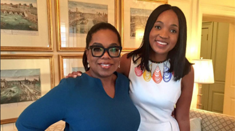 Mpumi Introduces Oprah At White House Summit